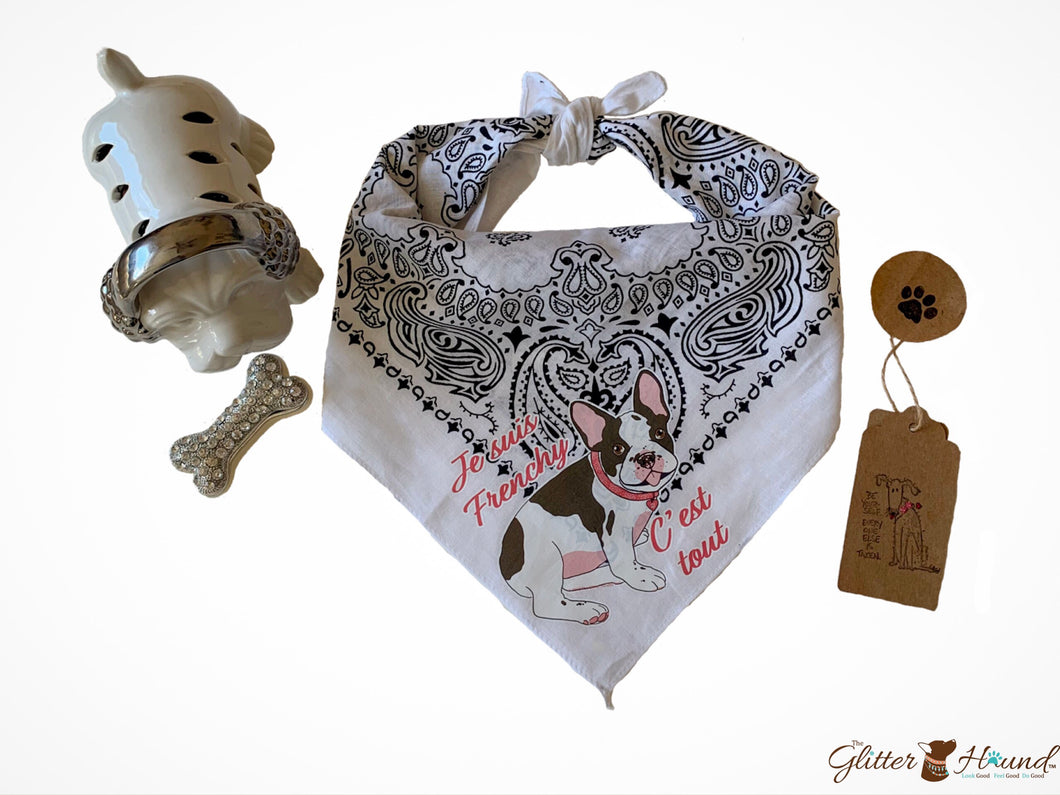 Cute Dog Bandana  French bulldog