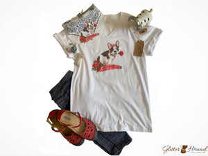 Tshirt Clothing for Women, Feminine French Bulldog