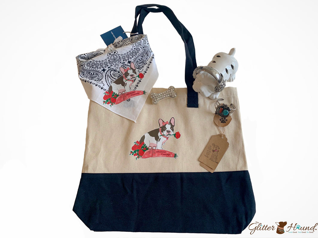 Tote bags for women, French Bulldog image