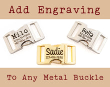 Load image into Gallery viewer, Personalized Dog Collar Buckle, Custom Engraved Metal Buckle Upgrade