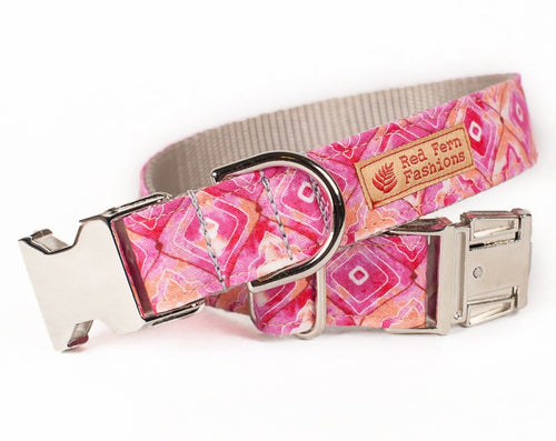 Pretty in Pink Dog Collar for Girls