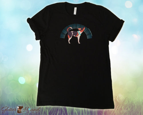 """Puppy Pride"" Black T Shirt for Dog Lovers"