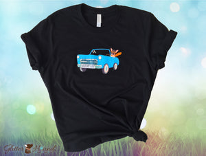 """Vintage Car Wagn My Way"" Fun T shirt for Pet Owners"