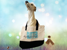 "Load image into Gallery viewer, ""Dog Hair is my Glitter"" Black and Tan Custom Tote Bag"