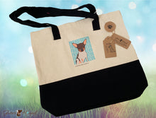 "Load image into Gallery viewer, ""FriendFurevr"" Printed Canvas Bag"