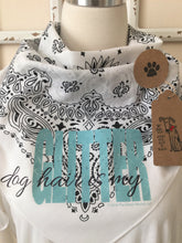 "Load image into Gallery viewer, ""Dog Hair is my Glitter"" Funny Sayings Bandana for dog or humans!"