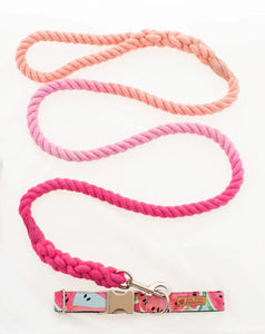 Custom Dog Collars and Leashes, Pink Watermelon