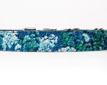 Load image into Gallery viewer, Custom Dog Collars and Leashes, Blue and green flowers for girls