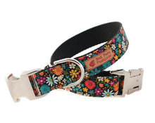 Load image into Gallery viewer, Custom dog collar and leash floral print