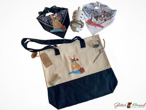 Tote Bags for Women, Cool French Bulldog graphics