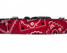Load image into Gallery viewer, Custom Dog Collar, Red Bandana for Boys or Girls