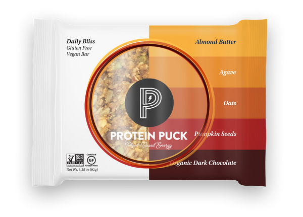 Daily Bliss (Almond Butter, Dark Chocolate) (16 - 3.25oz Bars) - Protein Puck