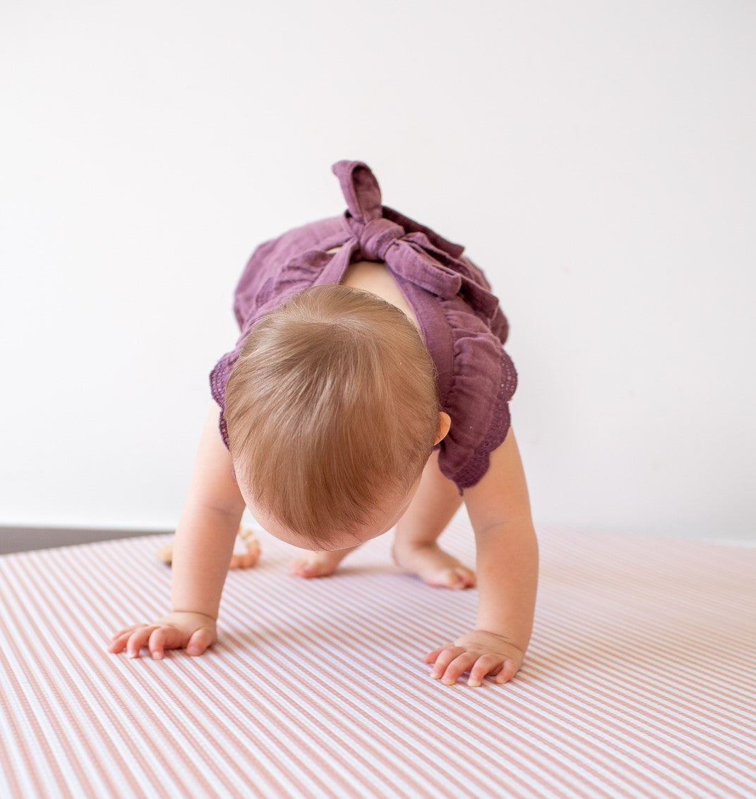 Blush Stripes Play Mat