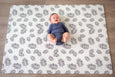 Small Palm Leaf Baby Play Mat | Waterproof | Reversible | Non Toxic