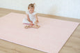 Large: Pink Petal / Grey Palm Leaf Play Mat