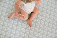 * NEW * SMALL: Dusty Blue Scallops / Dark Grey Scallops Play Mat