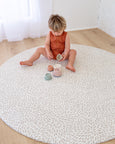 ROUND: Petal / Blush Stripes Play Mat (NEW WIDER STRIPES)