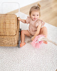 SMALL: Petal / Blush Stripes Play Mat