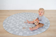 ROUND: Mint Palm Leaf / Grey Palm Leaf Play Mat
