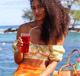 Hawaiian Girl Model Anna Maria with Oribe Tea Company Hibiscus Iced Tea