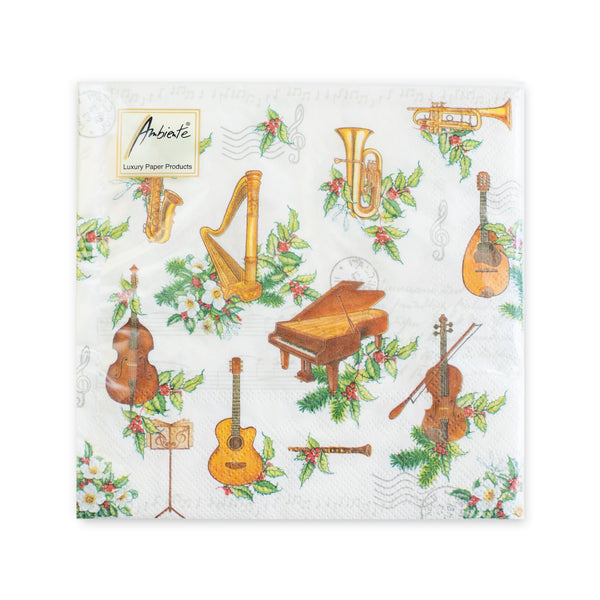 Holiday Instruments Luncheon Napkins