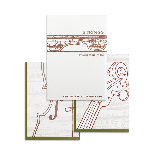 Letterpress Strings Notecard Set