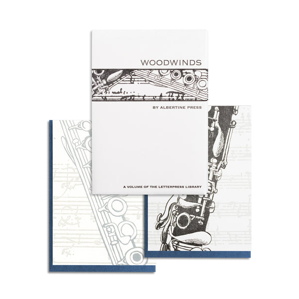 Letterpress Woodwinds Notecard Set