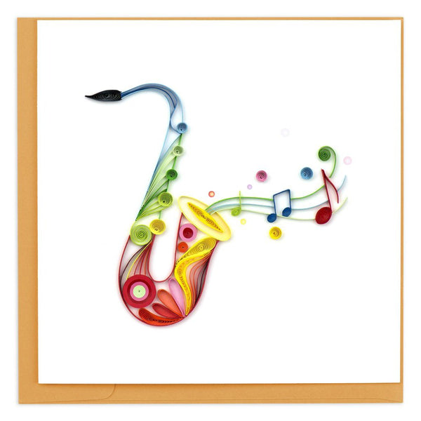 Quilled Saxophone Greeting Card