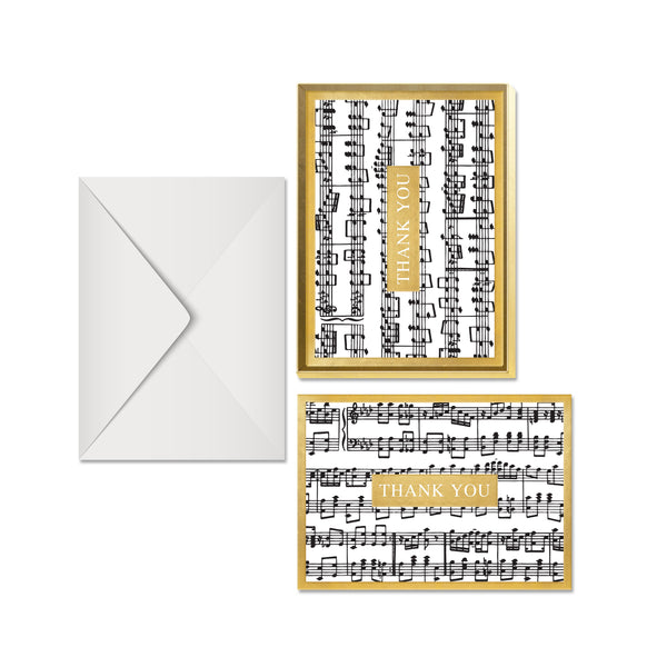Musica Thank You Boxed Notecards