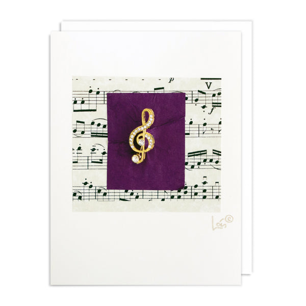 Treble Clef Art Card