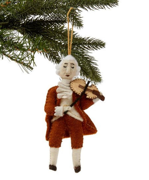 Mozart Felt Ornament