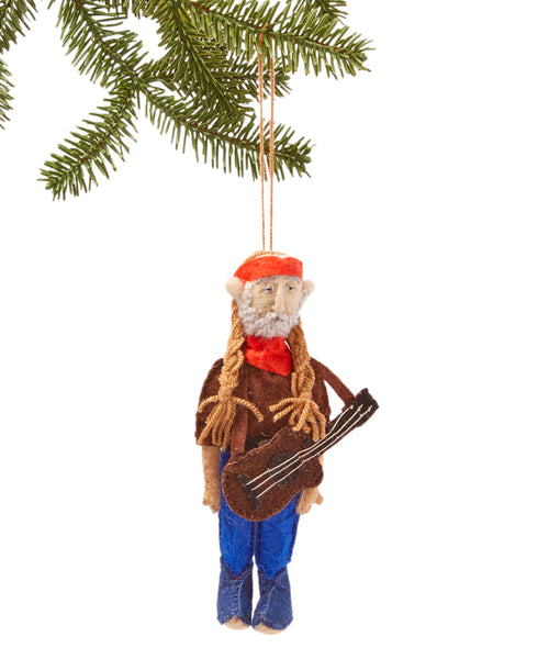 Willie Nelson Felt Ornament