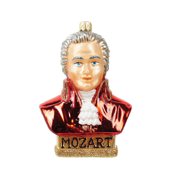 Mozart Blown Glass Ornament