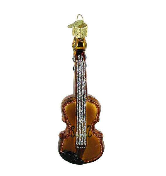 Violin Blown Glass Ornament