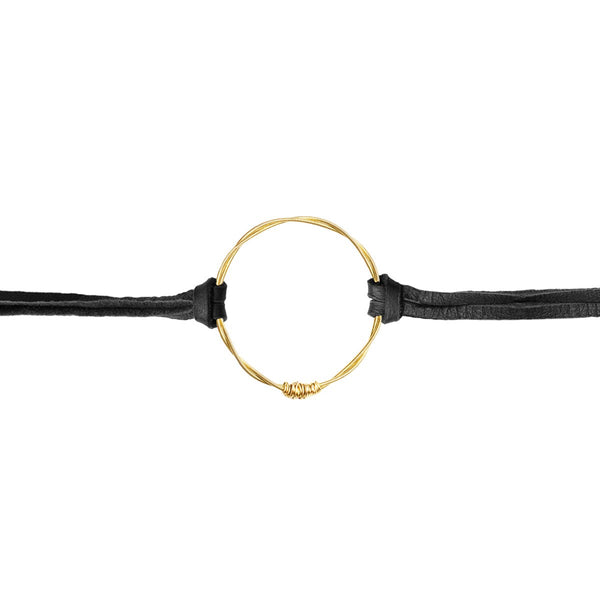 Guitar String Eternity Bracelet - Gold