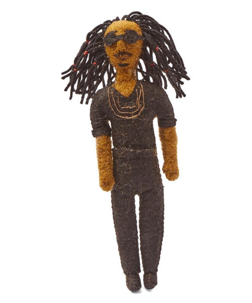 Stevie Wonder Felt Ornament