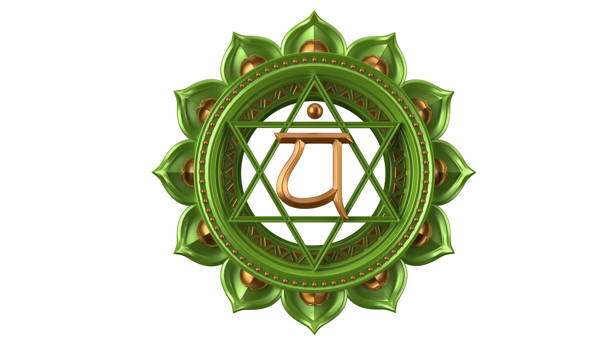 Image of the Anahata Chakra symbol