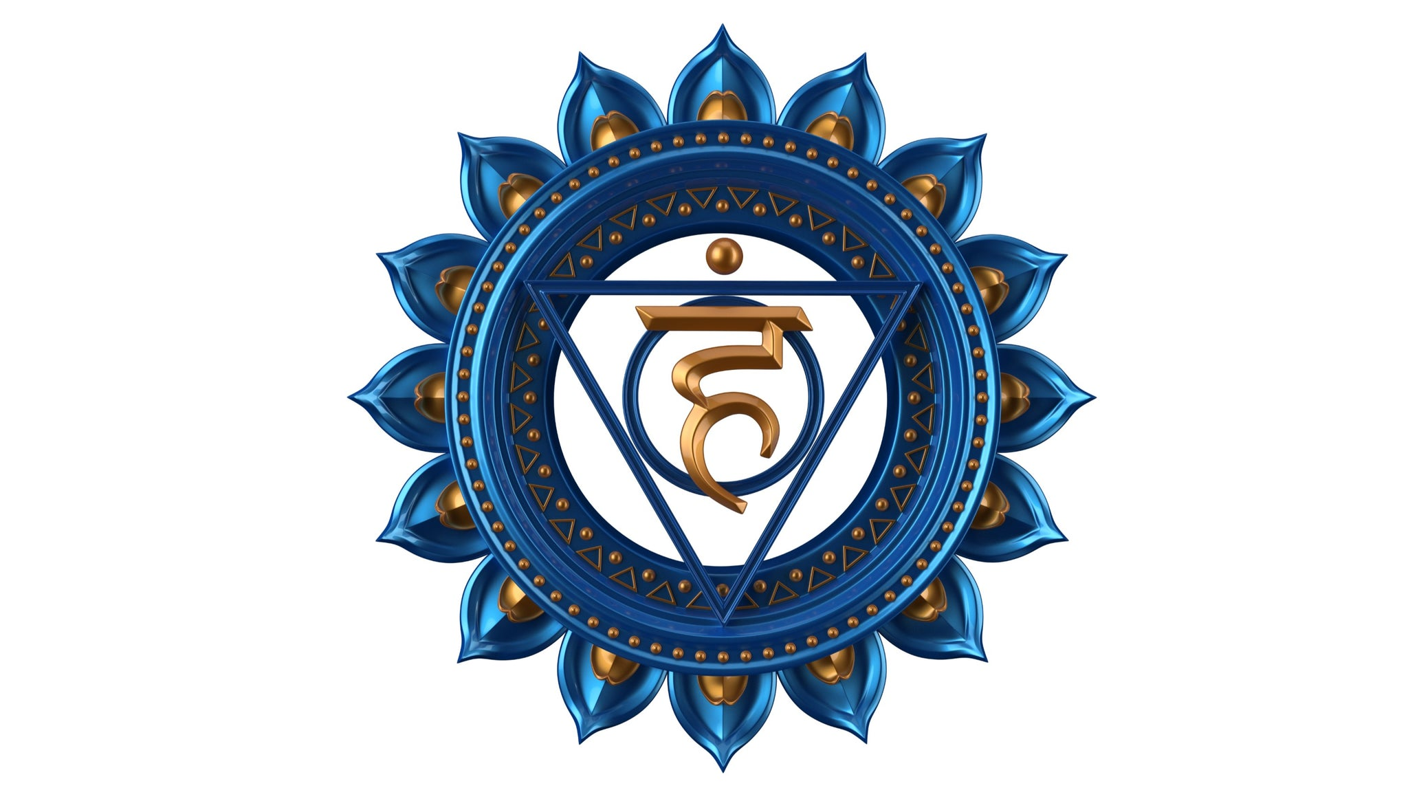 Image of the throat chakra - Vishuddha symbol