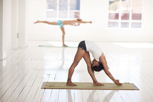yoga students in a yoga studio