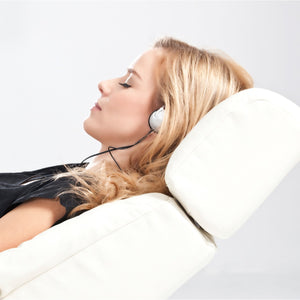 Girl listening to a Yoga 2 Hear Relaxation