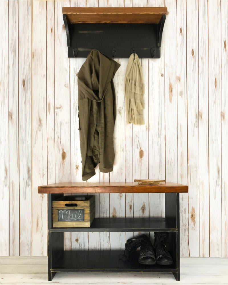 Fine The Braddock Entryway Bench And Coat Rack Handmade Shoe Storage Bench And Coat Rack Pabps2019 Chair Design Images Pabps2019Com