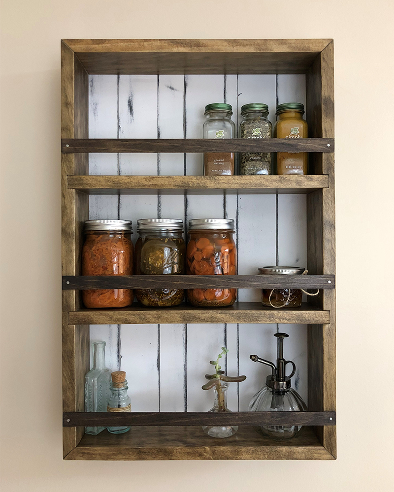 The Mansfield Spice Rack No. 104 - Wall Mounted or Countertop Spice Rack /  Kitchen Shelves