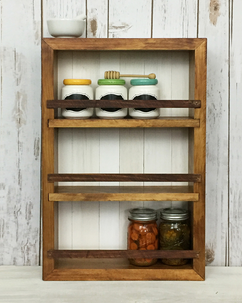 Kitchen Shelves No Cabinets: Wood And Spool