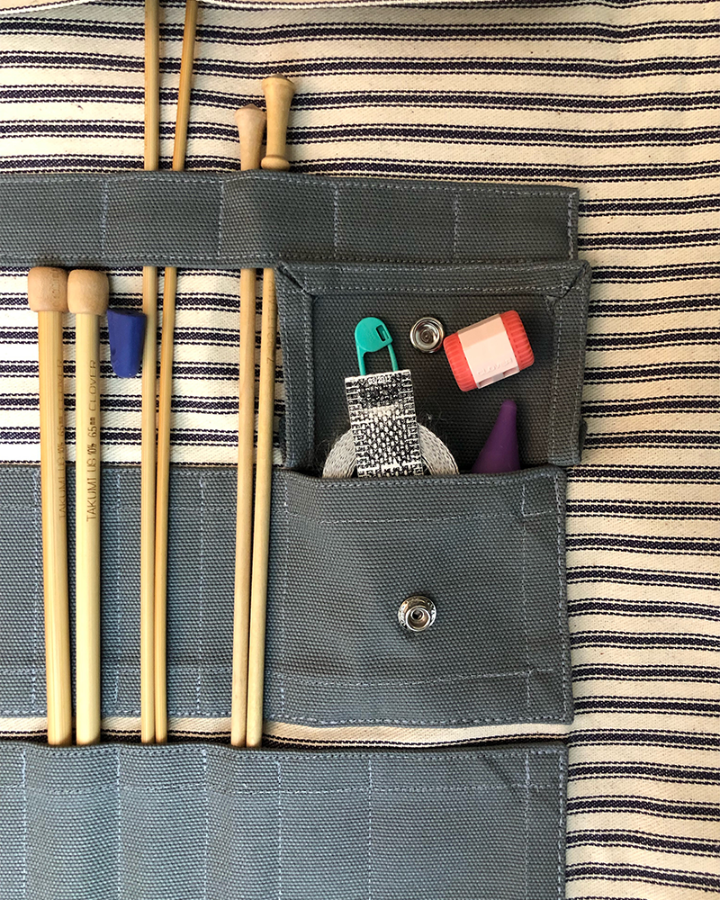 fa692725a1 The Hawthorne Tool Roll  Knitters Edition - Knitting Needle   Crochet  Organizer Case