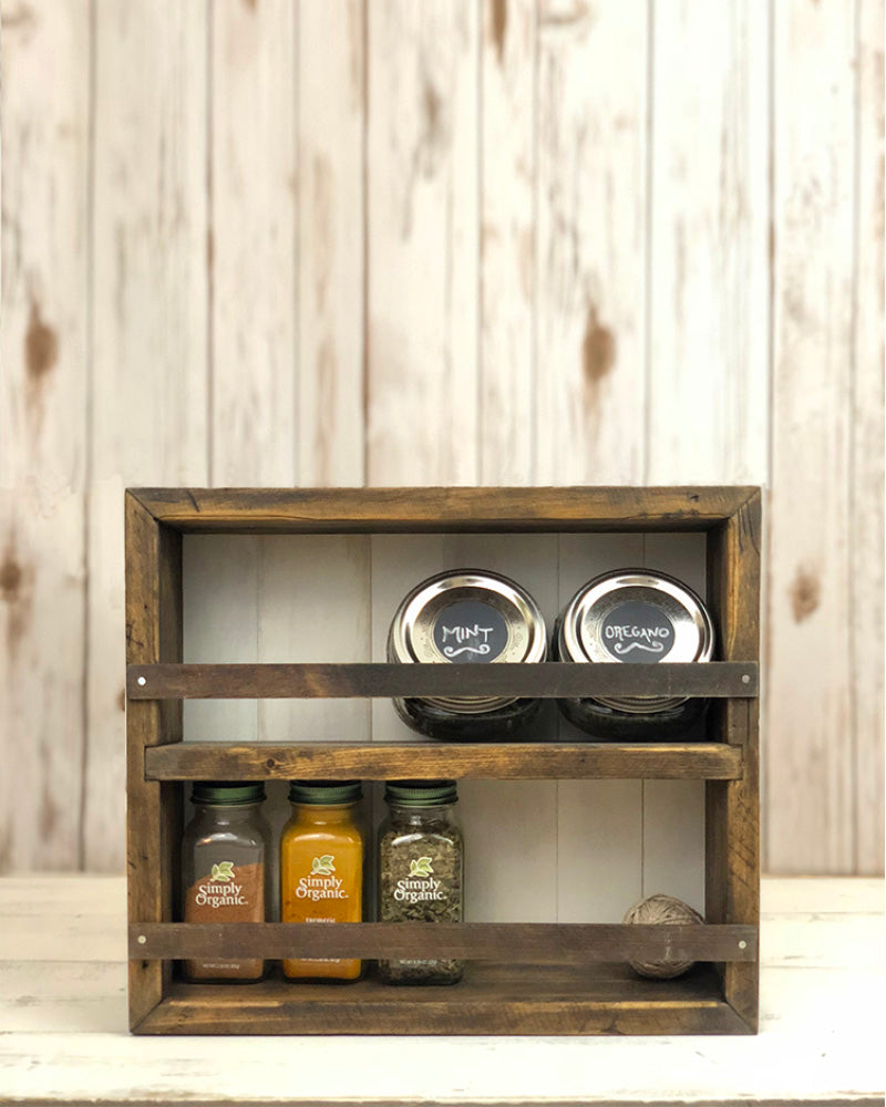 The Mansfield SpIce Rack No.105 1/2 - Wall Mounted or Countertop Spice Rack  / Kitchen Shelves