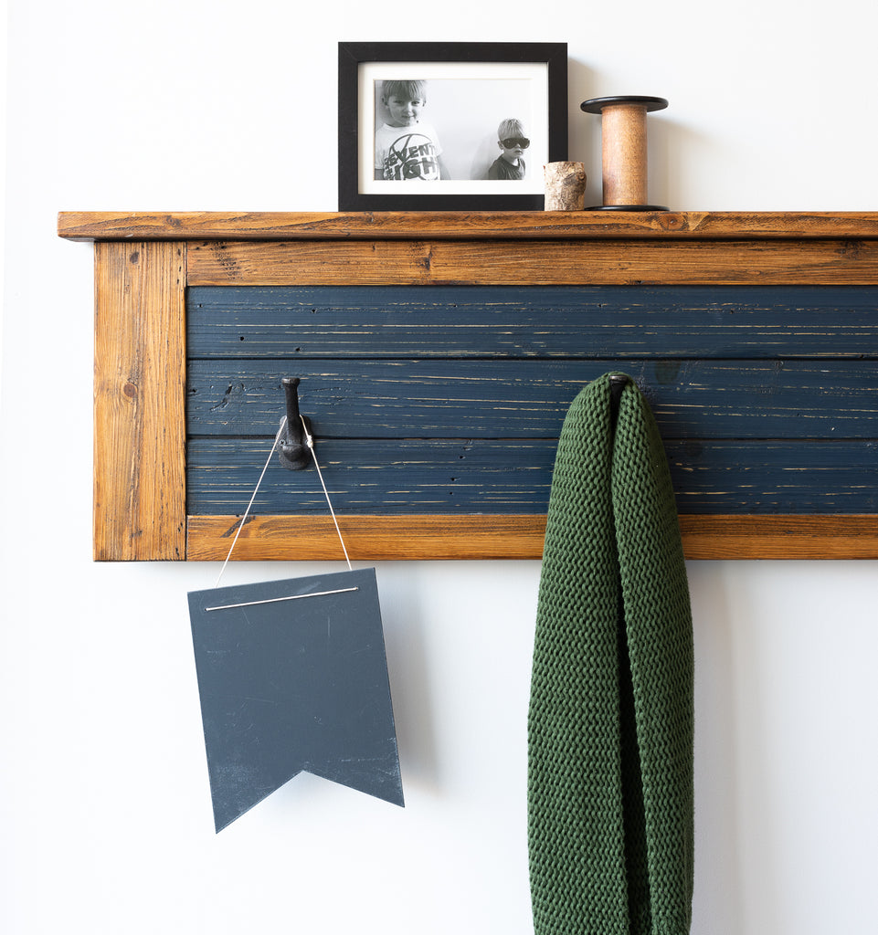 Recycled Timber Hooks in Navy
