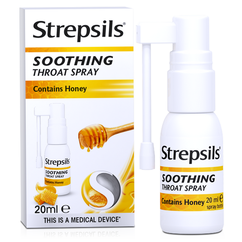 Soothing sore throat spray