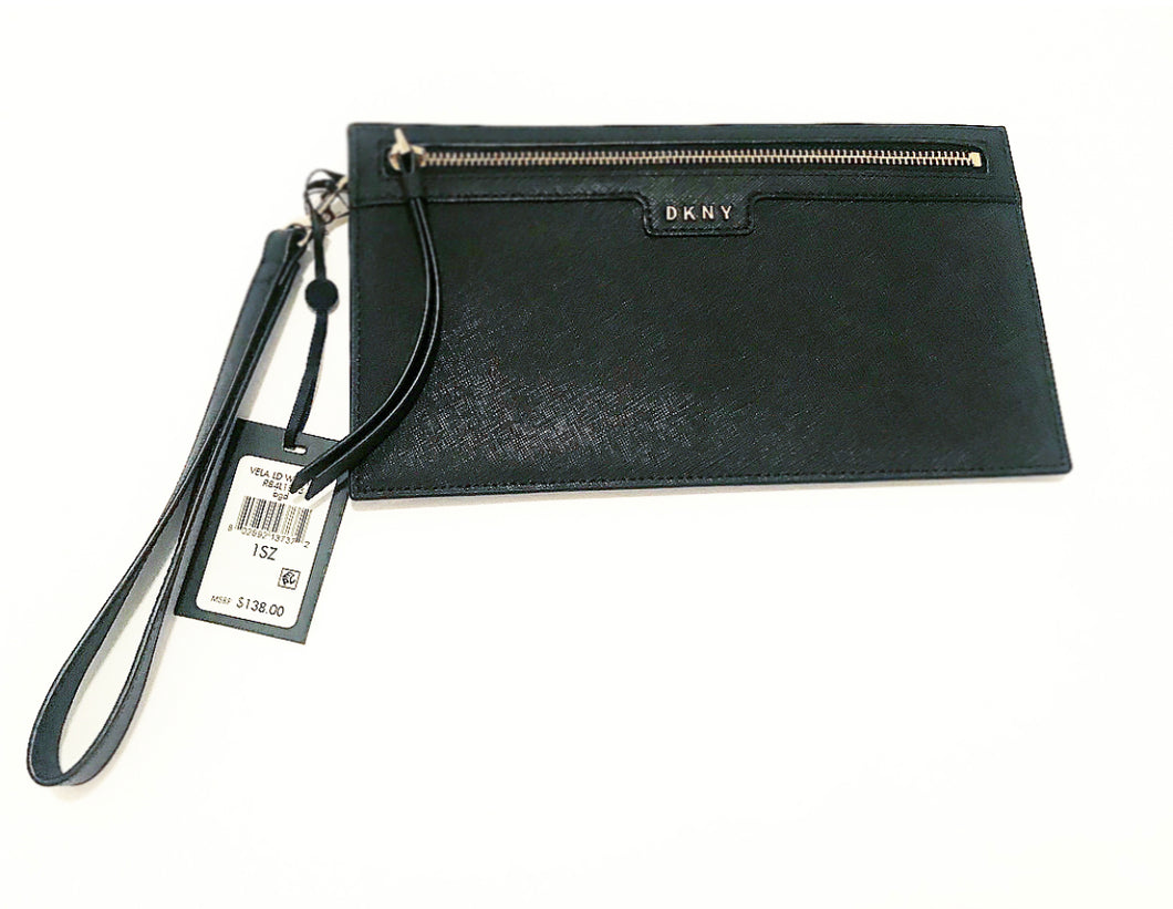 DKNY LEATHER VELA WRISTLIT WALLET