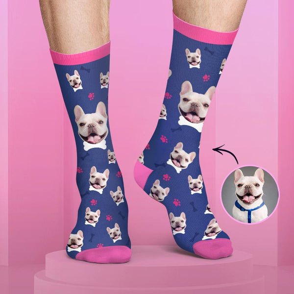 Colorful Candy Series Custom Dog Face Socks