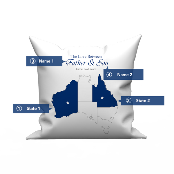 Australia Map - Custom Love Pillow Case - Love Knows No Distance